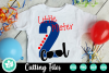 Little Mister Two Cool - A Second Birthday SVG Cut File example image 1
