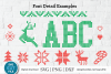Ugly Christmas Sweater font, Tacky Christmas Jumper font OTF example image 4