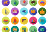 50 Toy Set Flat Long Shadow Icons example image 2