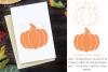 Pumpkin, single line sketch file / foil quill file. example image 1