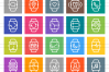 50 Smart Watch Line Multicolor B/G Icons example image 2