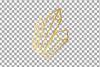 Elegant wedding geometric golden frames, lineal frames png example image 6