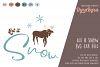 Let it Snow SVG / Moose SVG / Reindeer SVG / Snow SVG / Xmas example image 2