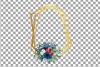 Watercolor elegant floral borders clip art. Wedding frames example image 17