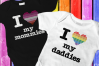 LGBT Parents Pride Heart SVG File Cutting Template Set example image 1