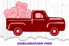 Valentine Candy Truck Sublimation PNG example image 1