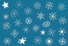 Snowflake Dingbats | A Font with Snowflake and Star Dingbats example image 2