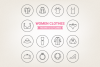 Circle Women Clothes Icons example image 1