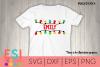 Christmas Lights Split Monogram| SVG for Cricut Silhouette example image 1