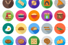 50 Bakery Flat Long Shadow Icons example image 2