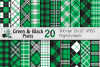 Green and Black Plaid Digital Papers / backgrounds example image 1