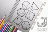 Roleplaying Dice Bundle SVG, Silhouette Studio, Cricut, Eps example image 1