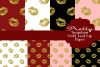 Pretty Lips Gold Leaf Patterned Papers example image 1