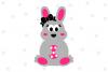 Girl Easter Bunny SVG File, V2 example image 1
