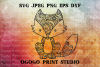 Mandala style Fox SVG, Zentangle Svg, Woodland Animal svg example image 1