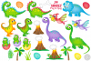 Dinosaur clipart, Dinosaurs graphics & Illustrations, T-rex example image 2