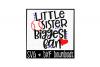 Baseball Sister SVG * Baseball SVG * Little Sister Biggest Fan Cut File example image 1