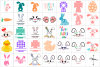 Easter Bundle SVG / DXF / EPS / PNG files example image 4