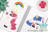 Fantasy Unicorns Clipart, Instant Download Vector Art example image 3