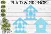 Plaid & Grunge Birdhouse SVG Cut File for Spring or Easter example image 1