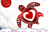 Valentines Sea Turtle Heart Mandala SVG DXF Cut Files example image 2