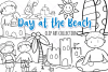 Day at the Beach Digital Stamps example image 1