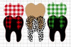 Merry Christmas - Teeth - Plaid - SVG PNG DXF EPS example image 3