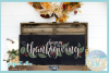 Happy Thanksgiving Quote With Leaves Berries SVG example image 2