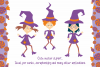 Halloween dance. Funny witches and black cats. example image 2