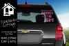 Passed By A Girl Car Decal Design example image 1