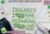 Malarkey Name, Shenanigans Game St Patick's Day SVG Cut File example image 3