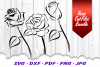 Tribal Rose Flowers SVG DXF Cut Files Bundle example image 2