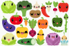 Cute Vegetables Clipart, Instant Download, Commercial Use example image 2