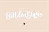 GOLDEN DAYS Signature Script .OTF Font example image 1