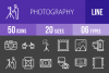 50 Photography Line Inverted Icons example image 1