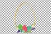 Easter golden watercolor floral frames, floral frames example image 6