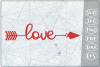 Love Arrow SVG Crafters Printables Svg Png Jpg Pdf Eps Dxf example image 1