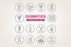 Circle Cosmetic Icons example image 1
