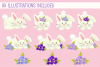Spring Flower Bunnies Illustration Collection example image 2