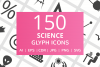 150 Science Glyph Icons example image 1