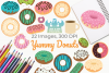 Yummy Donuts Clipart, Instant Download Vector Art example image 1