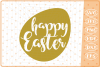 Happy Easter Egg SVG, Cutting File, Easter SVG example image 1