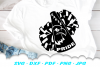 Eagle Pride Cheer Megaphone Poms SVG DXF Cut Files example image 2