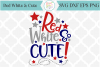 Red White & Cute SVG Cutting File example image 1