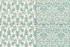 Seamless Blue Damask Patterns example image 6