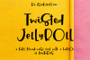 Twisted Jellyroll, a quirky mixed-case font with ligatures example image 1