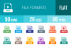 50 File Formats Flat Mutlicolor Icons example image 1