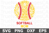 Softball Mom Words - A Sports SVG Cut File example image 2