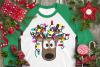 Christmas Lights Tangled Reindeer Watercolor example image 2