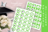 Green Printable Party Stickers Graduation 2019 - size 1.67 i example image 3